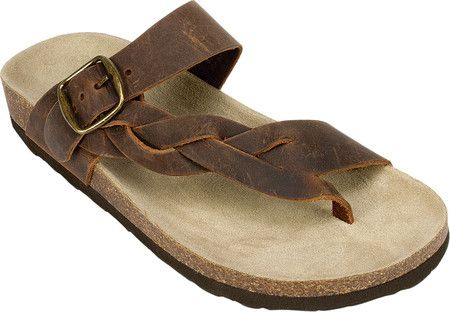 White Mountain Crawford Thong Sandal. Women s White Mountain Crawford Thong  Sandal - Brown Crazy Horse Leather with FREE Shipping   Exchanges. c7be758dc3d