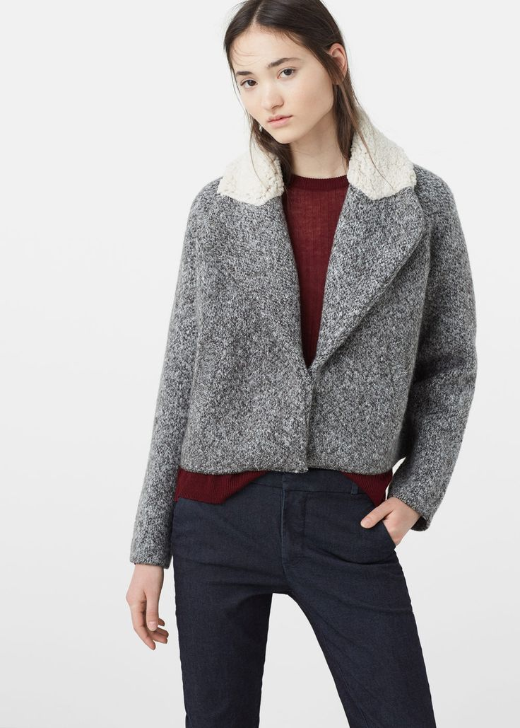 Veste col moutonné  | MANGO