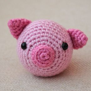 Pig - Chinese Zodiac Animals #12 - Free Amigurumi Pattern here: http://www.turtlekeepers.ca/2015/02/the-pig-chinese-zodiac-animals-12.html