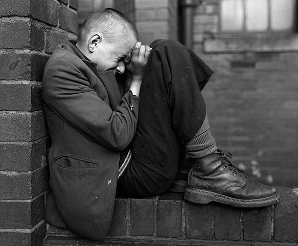Credit: Courtesy of the artist and the Photographers' Gallery, London Chris Killip's Youth on Wall, Jarrow, Tyneside (1976)