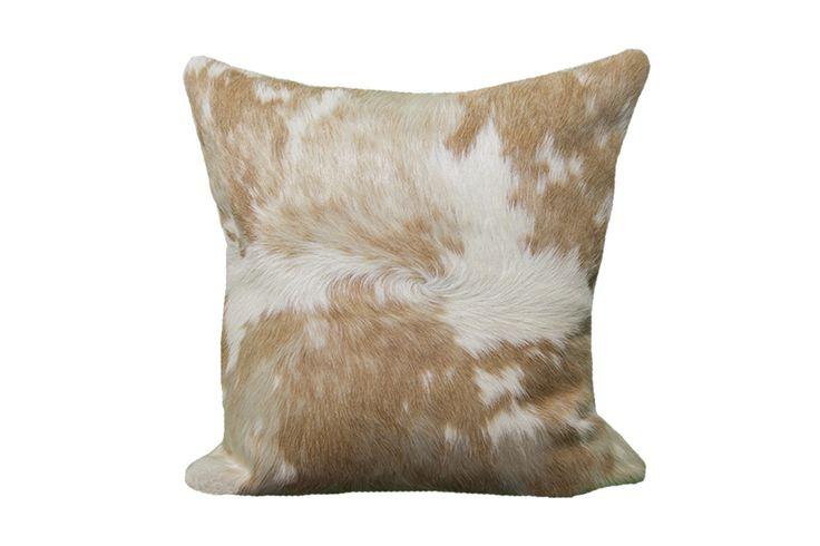 Blonde Cowhide Large Pillow Case