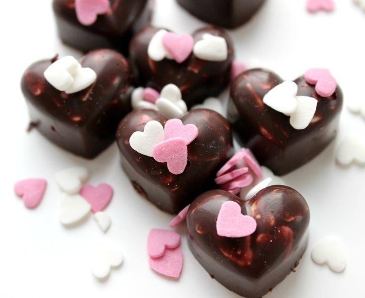 Schön Schokoherzen Valentinstag, Selbstgemachte Schokolade! (vegan)  Http://lifestylemommy.de
