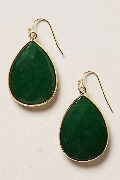 Gold Rung Earrings #anthropologie I love all the colors these come in, but sky and white are my favorites... oh how to choose....$34