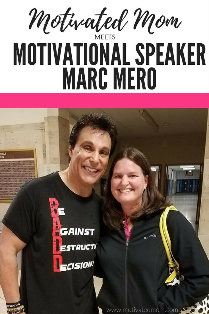 Motivated Mom Meets Marc Mero, Motivational Speaker.  Hear what Marc has to say to us Moms about our own goals and dreams as well as a little tidbit of parenting advice for us... #motivatedmom #goals  via @bemotivatedmom