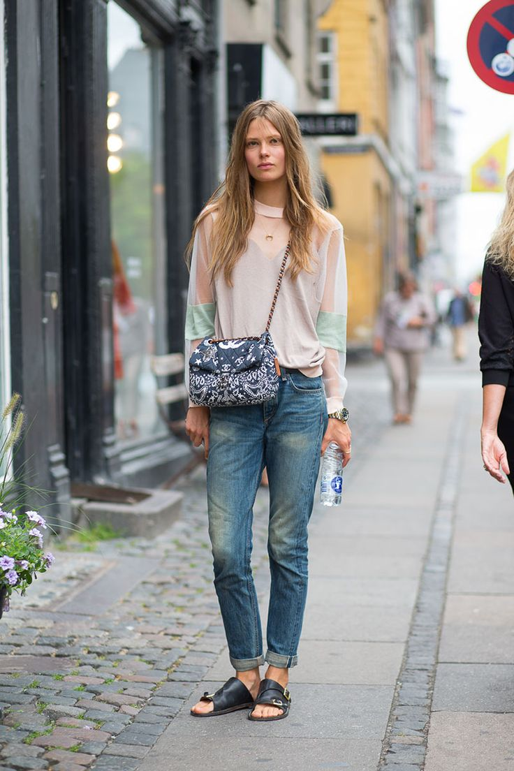 Caroline Brasch Nielsen. Cute outfit, but also perfect hair and super pretty.