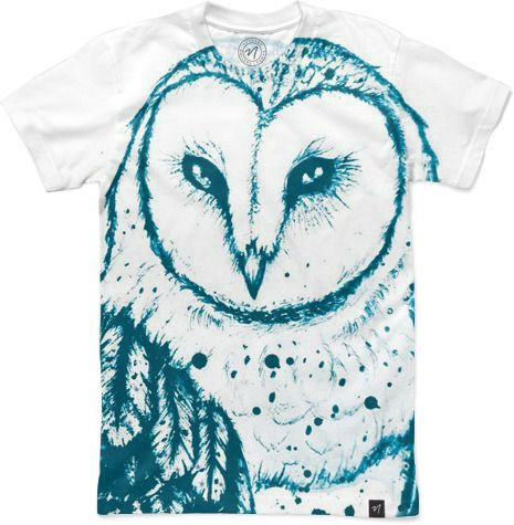 Owl Tee Men's T-Shirts by Aleksandra Kurczewska   Nuvango