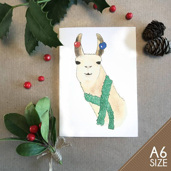 This cute pack of Llama Christmas cards will be sure to put a smile on your friends faces. These hilarious hand painted Xmas Card characters draped in Christmas accessories are sure to spread the holiday spirit! Lovingly painted then reproduced using high quality inks on 250gsm hammered