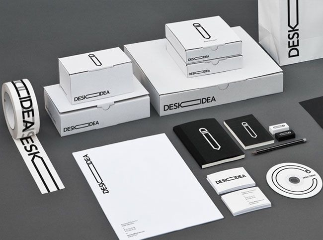 Agency: Larsson-Duprez  Client: Deskidea #identity: Corporate Design, Design Projects, Visual Identity, Graphics Design, Cameras Lens, Brand Identity Design, Identity Brand, Desks Ideas, Offices Supplies