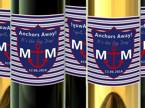 Check out this item in my Etsy shop https://www.etsy.com/listing/270354157/nautical-wine-labels-champagne-bottle