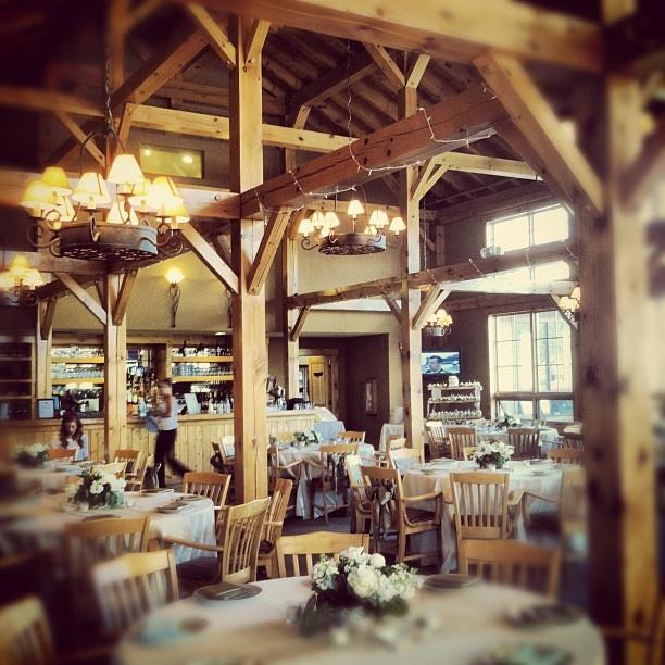 The inside of the Raven Golf Club in Silverthorne, Colorado.  #silverthorne #colorado #wedding #event #party #reception #venueGolf Club
