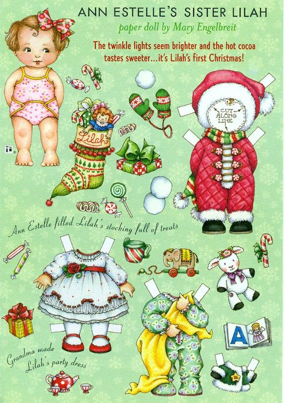 Uncut Paper Doll by Mary Engelbreit Lilah's First Christmas