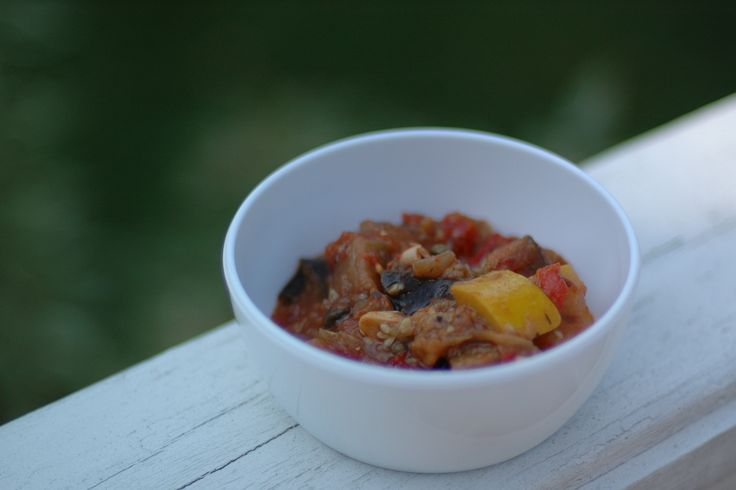 Recipes for an umami-rich ratatouille and Pimenton Shrimp, adapted from Fine Cooking by our friend Chef Julie Hartigan.