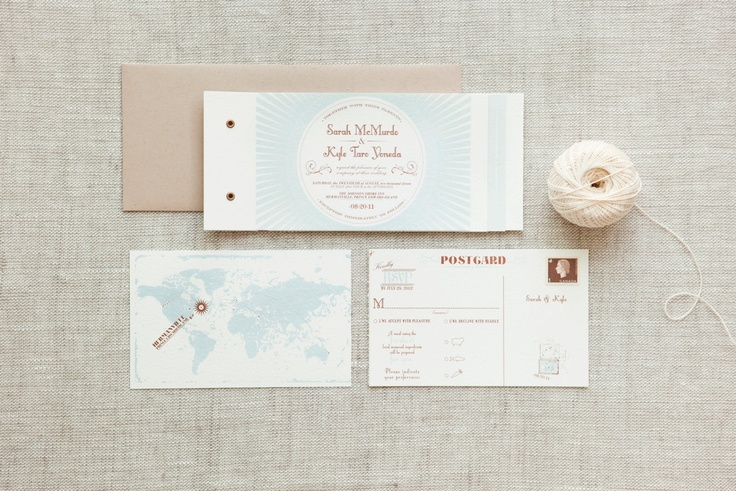 Sarah & Kyle - Paper & Poste Custom Invitation