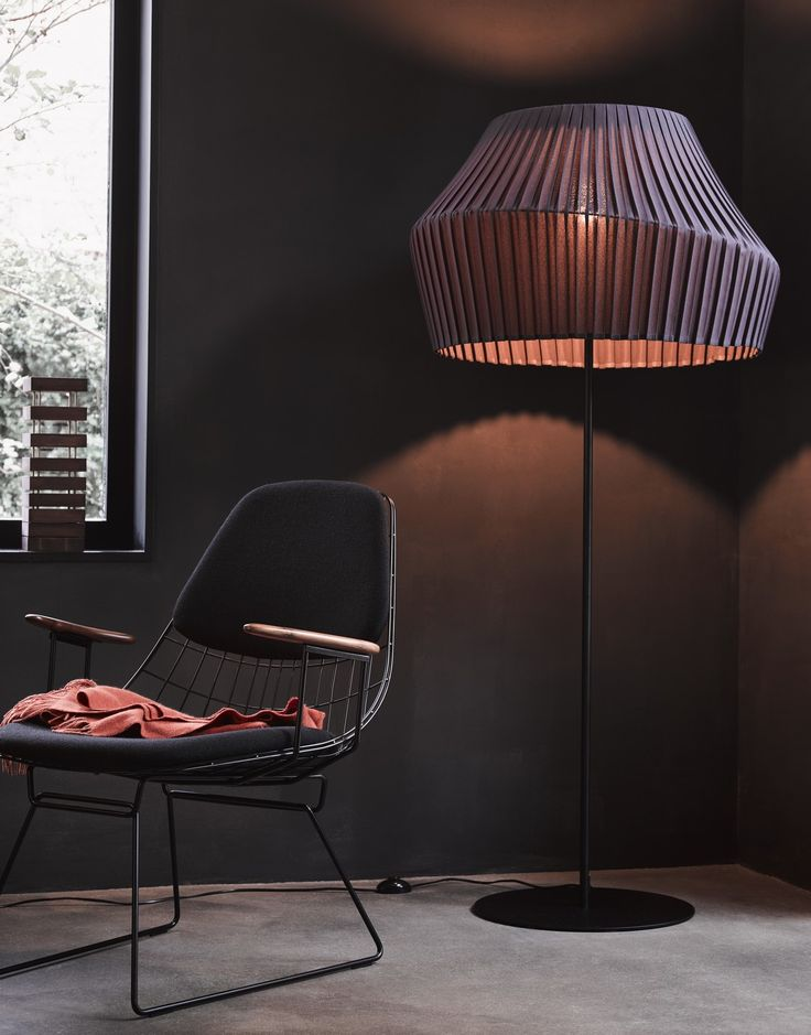 """""""Pleat"""" floor lamp by Hollands Licht - a Dutch design company we met at IMM Cologne 2018!"""