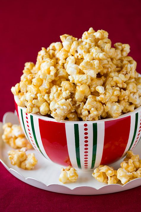 Salted Caramel Popcorn (the chewy sticky kind) - this is highly addictive! Perfect for gifts and holiday parties! @Jaclyn Booton {Cooking Classy}