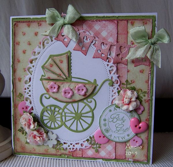 Baby Girl card by Amelia (Stamped for the Occasion)