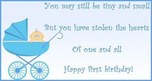 First birthday wishes and poems: