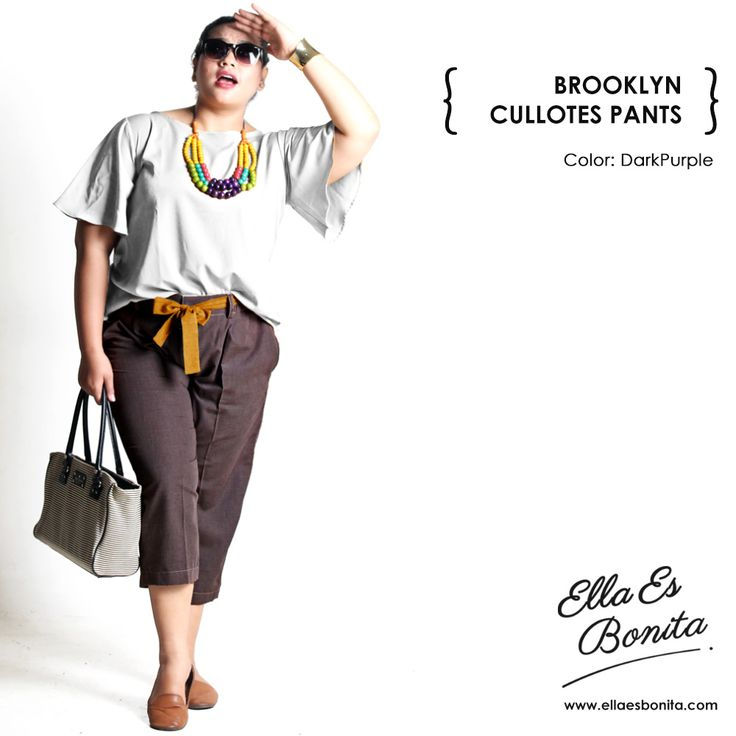 This cullotes pants features high quality chambray cotton which specially designed for sophisticated curvy women originally made by Indonesian Designer & Local Brand: Ella Es Bonita.