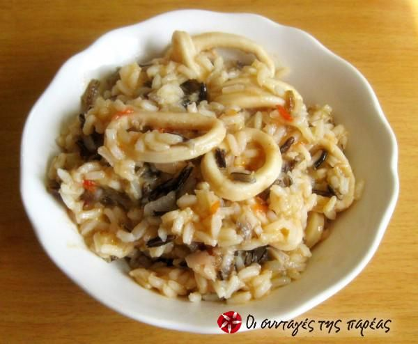 Καλαμαράκια με άγριο ρύζι #sintagespareas