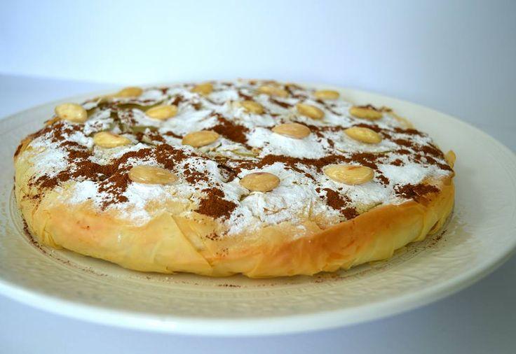 Ellouisa: Kipbestilla (Marokkaanse pastei van kip en filodeeg)