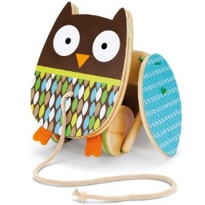 Skip Hop Treetop Friends Flapping Owl Pull Toy    $19.99