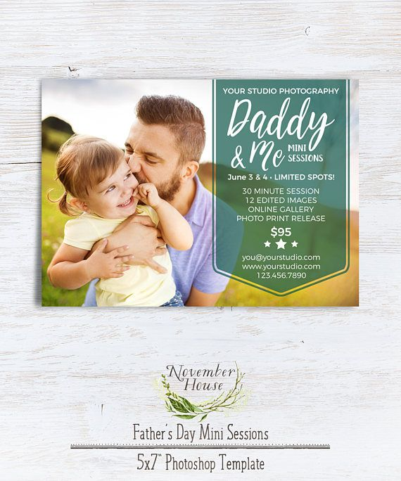 Daddy and Me Mini Session Template Father's Day Mini