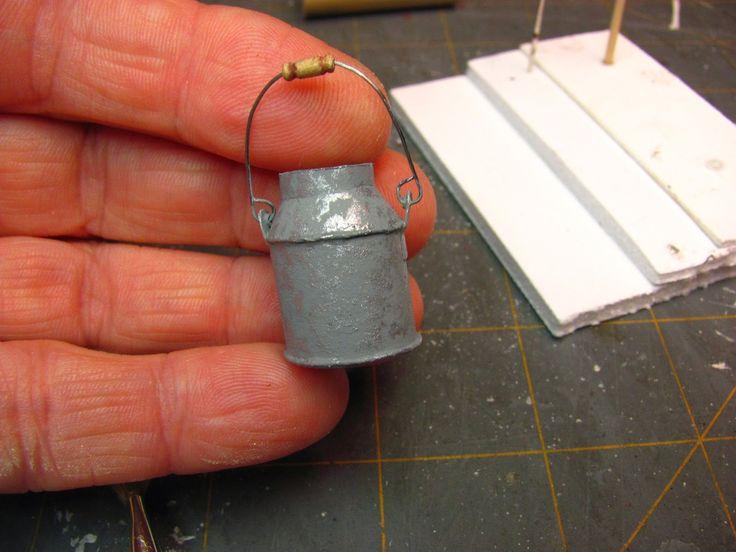 Dollhouse Miniature Furniture - Tutorials   1 inch minis: 1 INCH SCALE CREAM CAN…