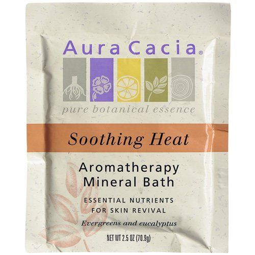 Aura Cacia Soothing Heat, Aromatherapy Mineral Bath, 16-Ounce Jar (Pack of 2) by Aura Cacia. $43.61