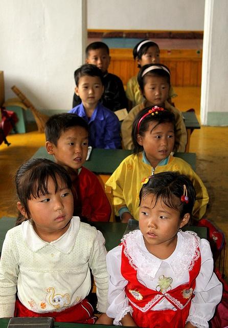 North Korea - Dongbong - Collective farming.