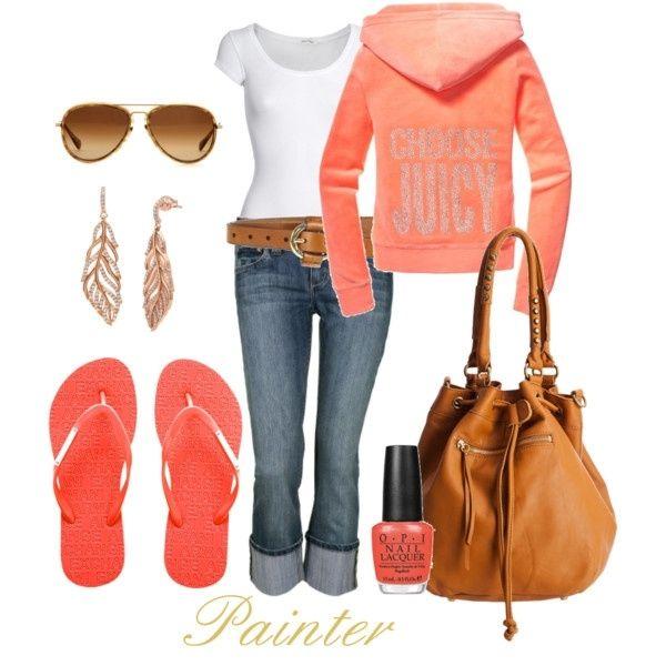 Peachy Spring outfit by reva