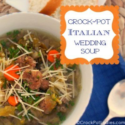 Crock-Pot Italian Wedding Soup via CrockPotLadies.com