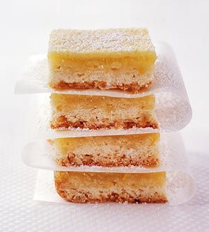 Light Lemon Bars - This popular lemon bar recipe is more heart-healthy than previous recipes. At only 100 calories each bar, it has less fat and all the flavor.