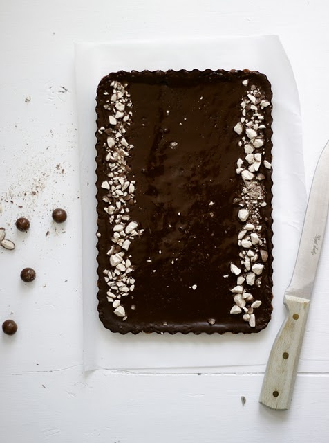 Chocolate Malt Tart