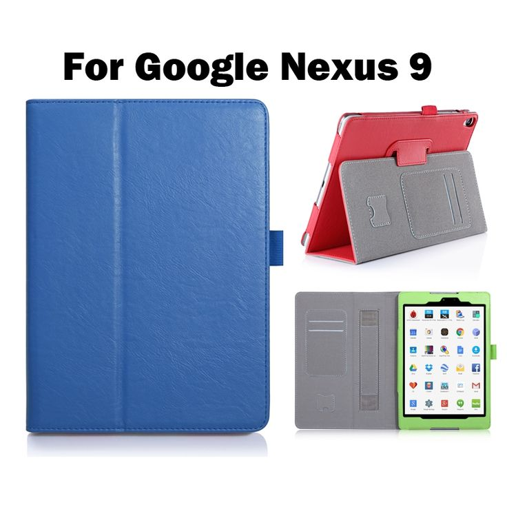 "14.80$  Watch now - ""For Google Nexus 9 Tablet Case Cover Good Quality PU Leather 8.9""""Case with Hand Holder Card Slot Tablet Case+Screen Film+Pen+OTG""  #magazine"