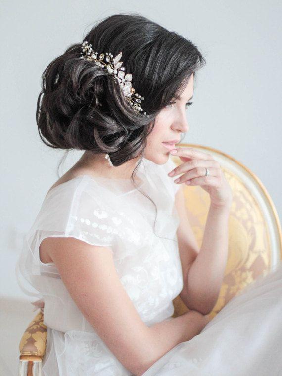 Wedding Hair - Side updo and headpiece