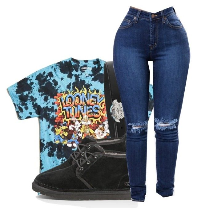 """Looney Tunes"" by jordynnleigh ❤ liked on Polyvore featuring 21 Men and Versace"