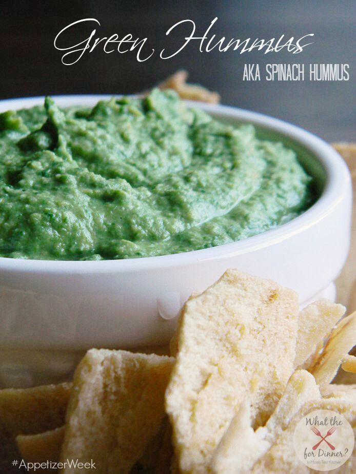 Spinach Hummus   Mom's Test Kitchen   #AppetizerWeek