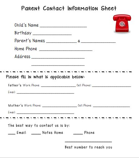 The  Best Parent Contact Form Ideas On   Parent