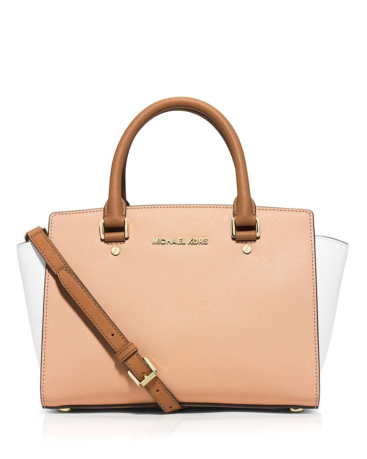 MICHAEL Michael Kors Satchel - Medium Selma Tricolor Saffiano Top Zip |  Bloomingdale\u0027s