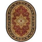Elegance Red 5 ft. 3 in. x 7 ft. 3 in. Oval Traditional Area Rug