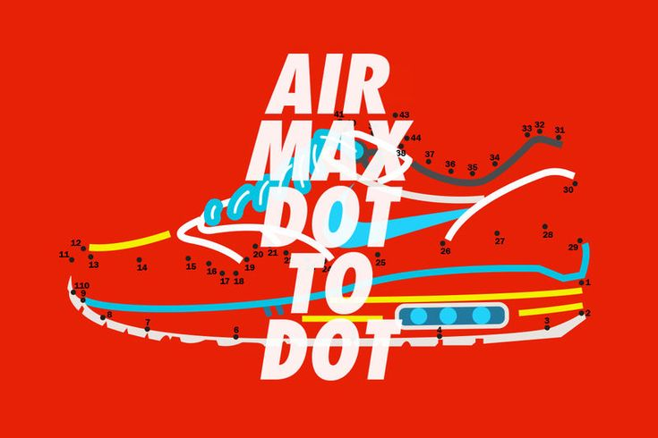 Connect-the-Dots Sneaker Art : Air Max Day Illustrations