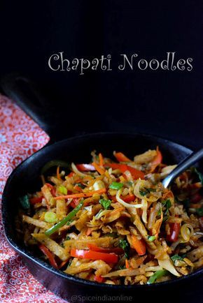 Don't know what to do with leftover chapatis? Here is something delicious for you- DesiChinese Chapati Noodles Recipe.  #DesiChinese #indianchinese #chapatinoodles