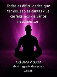 Mensagens e Pensamentos: Mentalize -se em uma energia violeta e transforme-...