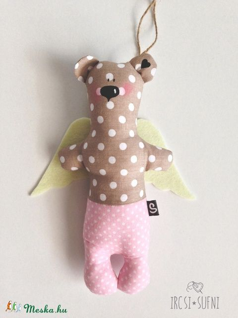 Meska - Őrangyal medve ircsisufni kézművestől