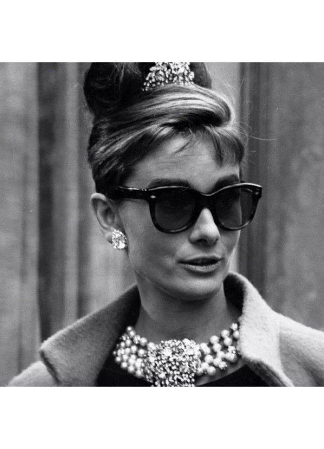 f151ef7b7117 Audrey Hepburn Breakfast at Tiffanys Cat Eye Sunglasses