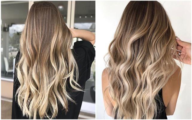 Dunkelblonde Haare mit Hellen Strähnen   Hair styles