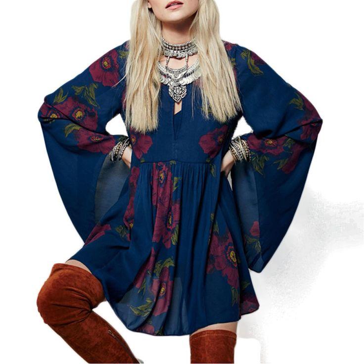 Ucuz Etnik Boho Elbise Kadınlar Seksi O Boyun Çiçek Yazdır Boho Tarzı tunik Mini Elbise Uzun Kollu Flare Cut Out Yaz Elbise 2016 30d, Satın Kalite elbiseler doğrudan Çin Tedarikçilerden: etnik Stil Kadınlar Uzun Flare Kol Çiçek Yazdır Casual Mini Elbisemalzeme: Polyesterrenk: Maviamaçlar: Raslantıkonfeksiy