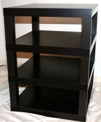 4 Ikea Lack Side Tables Making An Inexpensive AV Rack For Your Home  Entertainment Equipment.