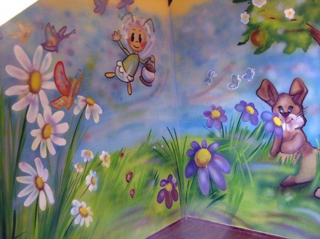 www.elakaras.eu dětský pokoj malba na stěnu