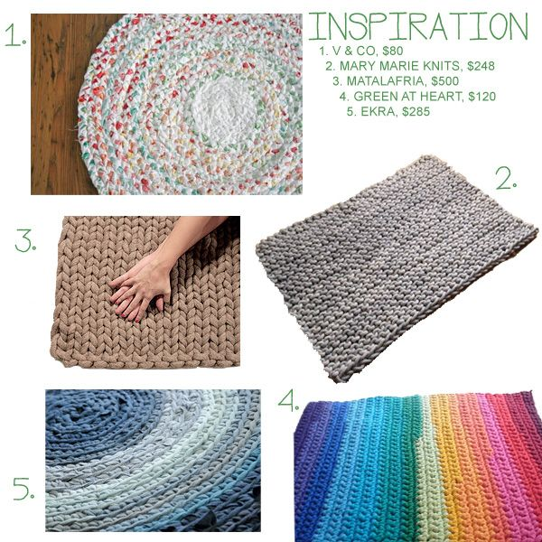 RAG RUG (with tutorial on making seamless fabric yarn)